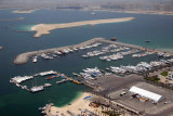 View of the Dubai International Marine Club from the top of the Grosvenor Hotel