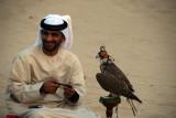 Each evening, Bab Al Shams has a falconry demonstration