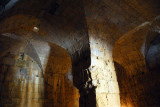 Massive vaulted chamber at the base of the keep, Saone Castle - Qalaat Saladin