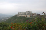 Krak des Chevaliers sits on a hill 650m above sea level