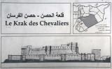 Informational sign at Le Krak des Chevaliers