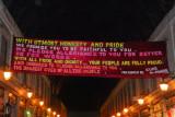 Another English translation of a Bashar referendum banner, Hamidiye Souq