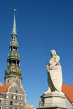 St. Peter's Church and Roland, Riga