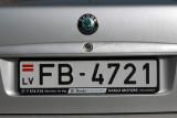 Pre-EU Latvian license plate