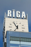 Clock tower of Riga railway station