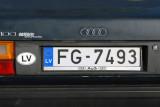EU-member state Latvia license plate