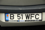 Romanian license plate from Bucharest