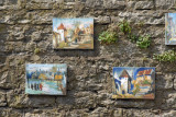 Art displayed for sale along the road from Pikk Jalg to Toompea Hill