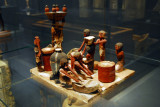 Wooden baking, brewing and butchery scene from the tomb of Wadjet-hotep at Sedment 7-11th Dynasty ca 2150-2050 BC