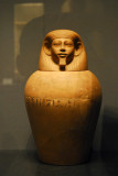 Canopic jar from a tomb at Riqqeh, 12th Dynasty ca 1850 BC
