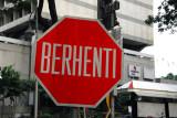 Malaysian stop sign - Berhenti
