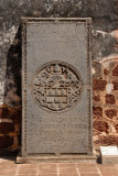Dutch tombstone, St. Paul's Church, Malacca, 1659