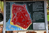 Map of Melaka Fortress (Fort St. John) as it appeard before the British destroyed it