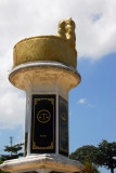 Monument in the form of Malay royal headwear