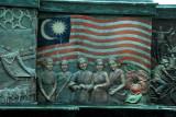 Melaka Megamall - central fountain - Malaysian flag