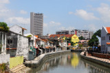 River Sungai Melaka from bridge at Town Square