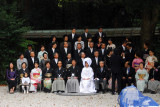 Wedding photos with the whole family, Meiji Shrine, Tokyo