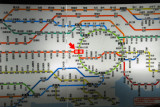 Metro Tokyo rail fares from Shinjuku Station - in Japanese, but some maps are in English as well