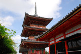 Sanjunoto, Three-tier pagoda, and Kyodo (sutra hall) Kiyomizu-dera, Kyoto