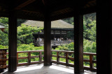Corner of the famous terrace (butai) of the main hall, Kiyomizu-dera, Kyoto