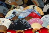 Japanese fans, Chawan-zaka (Teapot Alley) Kyoto