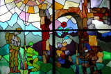 Stained glass, World's Unknown Soldier memorial, Kyoto