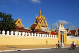 Wall of the Royal Palace and Silver Pagoda, Phnom Penh