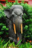 A second elephant sculpture