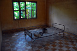 A former classroom converted by the Khmer Rouge into a torture chamber