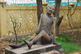 Emaciated figure, Wat Ounalom, Phnom Penh