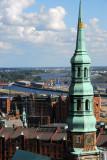 Katharinenkirche, Speicherstadt, Elbe