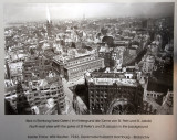 Historic photo of the destruction of Hamburg 1943 by Willi Beutler from the Nikolaikirche spire