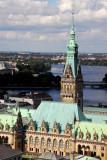 Hamburg - Rathaus from Nikolaikirche