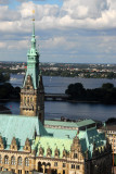 Hamburg - City Hall Tower & Alster