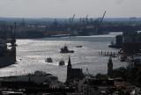 Port of Hamburg, Elbe River, from Nikolaikirche
