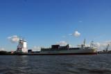 UNIFEEDER container ship Sven at home port of Hamburg