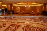 Shiny marble floor beneath the main dome, Emirates Palace Hotel