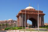 Monumental gateway, Emirates Palace Hotel, Abu Dhabi