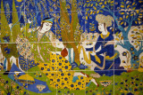 Tile Panel with Picnic Scene, Iran (Isfahan) 17th C.