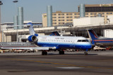 Skywest CRJ at LAX with the new United Express paintjob