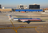 American Airlines MD-80 taxiing at LAX
