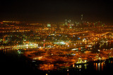Port Rashid at night, Dubai