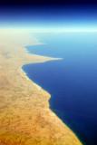 Egyptian Mediterranean coast from El Dab'a / El Alamain west