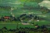 Rural Norwegian countryside and church