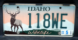 Idaho Wildlife license plate