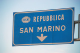 Repubblica San Marino, a 23 square mile country surrounded by Italy