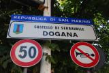 San Marino - Dogana - Castello di Serravalle