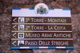 Sign for sites of tourist interest, San Marino