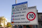San Marino-Italy border - Gualdicciolo