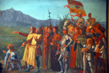 Apparition of St. Marinus to his People, San Marino parliament